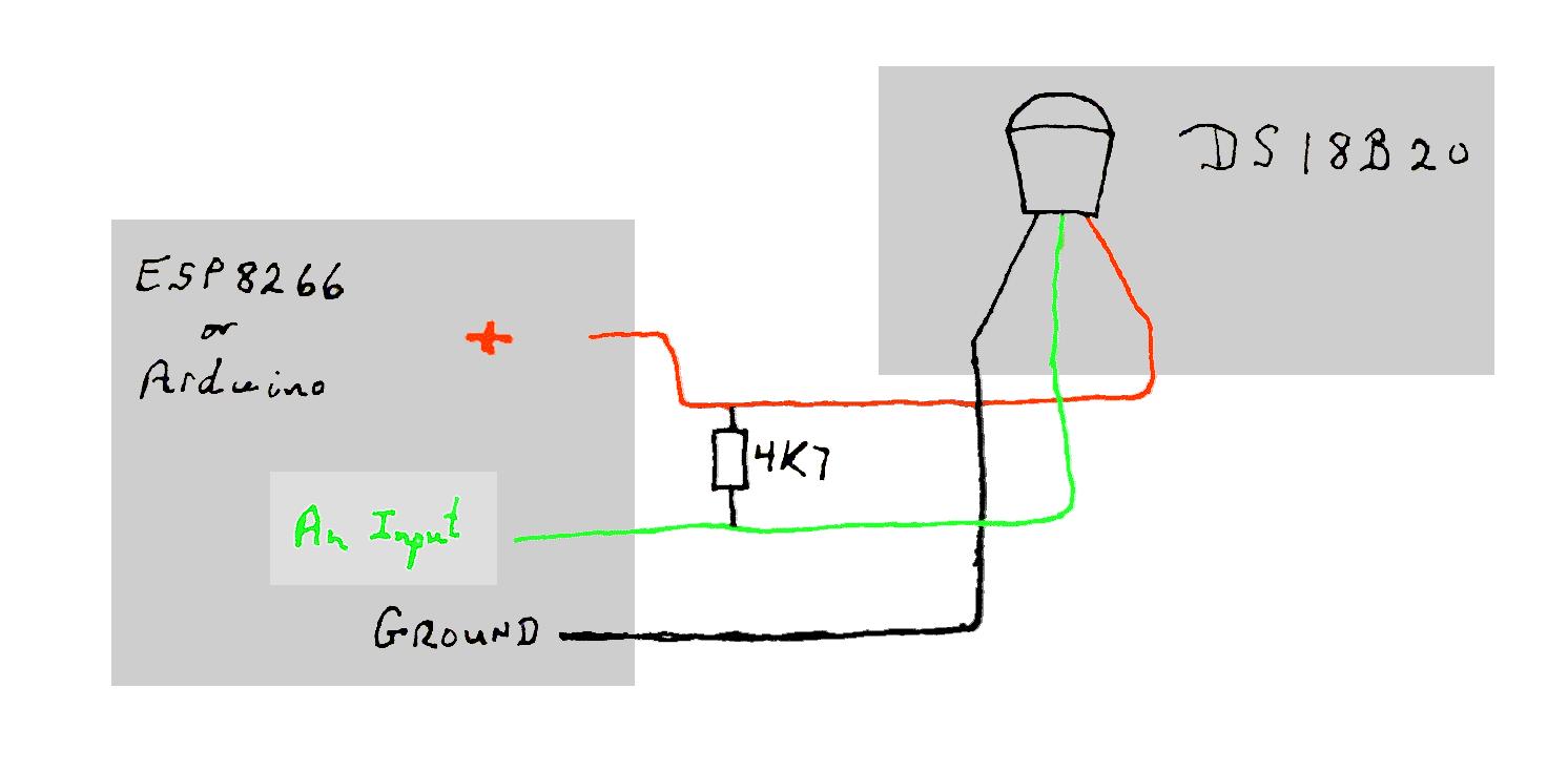 DS18B20 temperature sensor with Arduinos- esp ESP8266