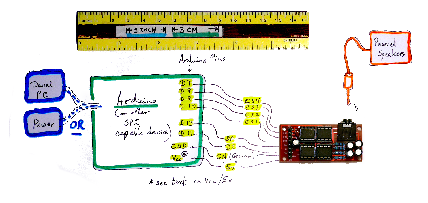 Diagram for Big Buddy Talker/ Arduino setup