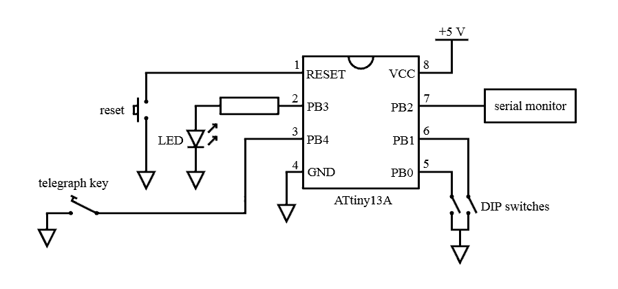 circuit for ATtiny Morse decoder