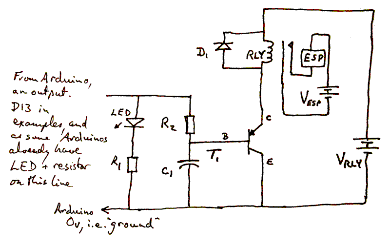 Transistor As Switch - Relay Circuit With Transistor